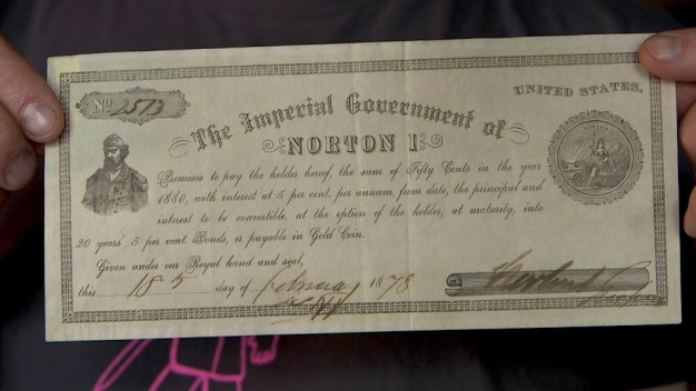 Bar Owner Discovers 141-Year-Old Emperor Norton Bond