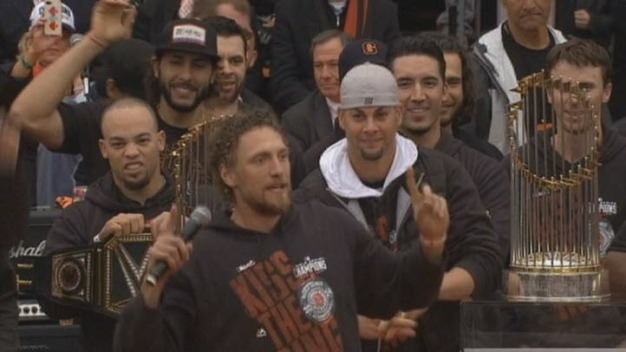 World Series 2014 Celebration: Hunter Pence