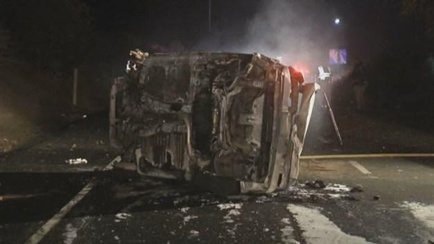Man Dies After Fiery I-680 Crash