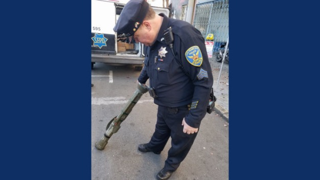 Anti-Tank Weapon Turned Over to SFPD at Gun Buyback