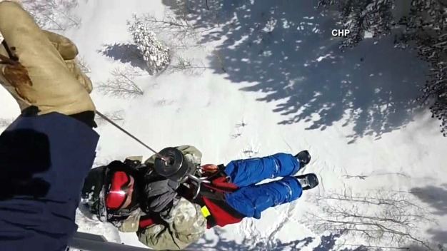 Rescued Snowboarder Spends Overnight Hours Cold, Alone
