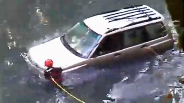 Woman Crashes into Creek, Survives Eight Hours Before Rescue