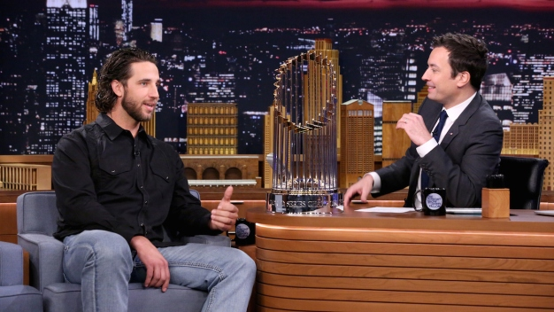 "Watch: Madison Bumgarner Gives Jimmy a ""MadBum"" Gift"