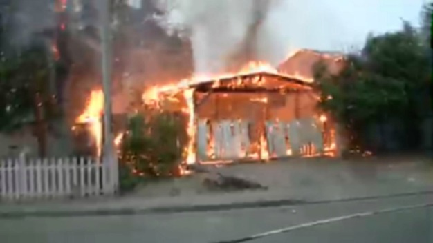Flames Engulf Car Port in Vallejo