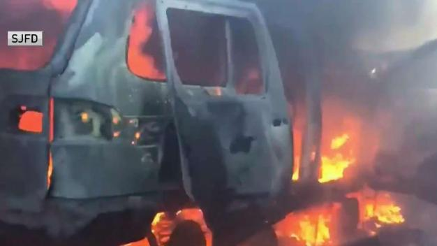 6 Vehicles Scorched in Wrecking Yard Fire in San Jose