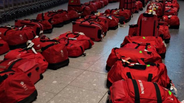 Matching Red Bags for Great Britain's Olympians