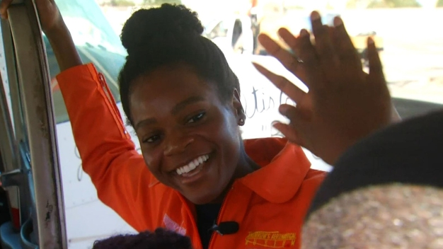 Record-Setting Pilot Inspires Youth at Airport