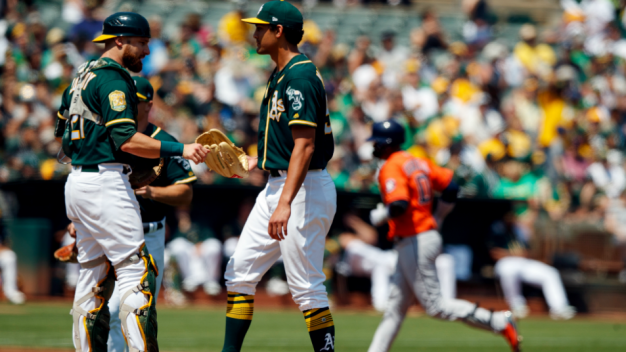 A's Fall Back to Second in AL West After Loss to Astros