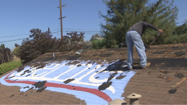 'Berner' Who Painted Logo on Home Gets New Roof