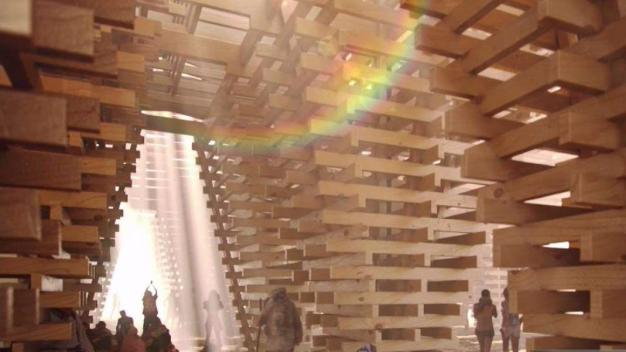 California's Tree Disaster Fuels Burning Man Temple