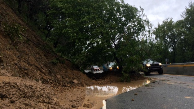 Mudslides, Fallen Trees Wreak Havoc on Highway 17