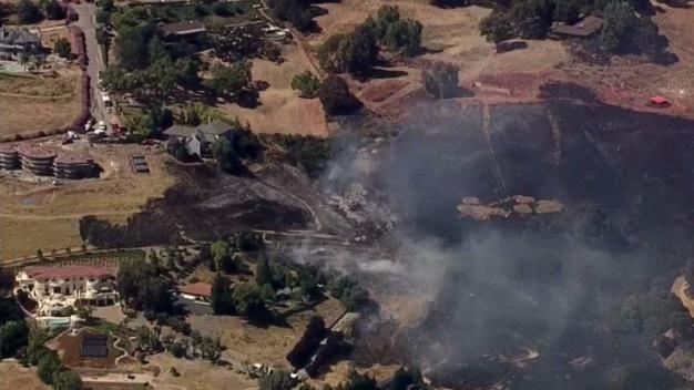Crews Battle Brush Fire in South San Jose