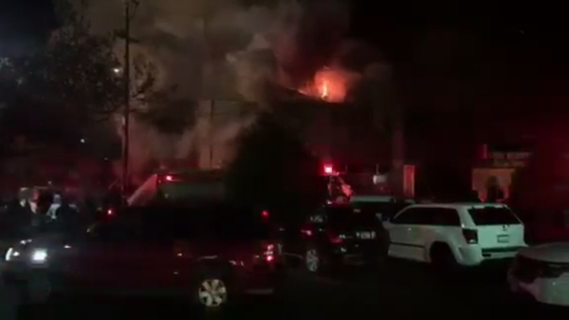 RAW: Video of Oakland Warehouse Engulfed in Flames