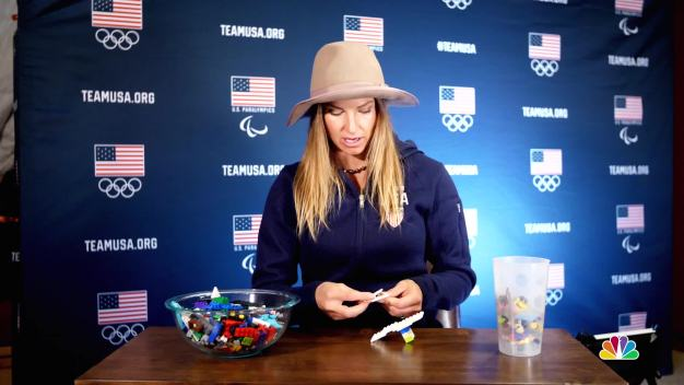 Ted Ligety and Julia Mancuso Explain Alpine Skiing With Legos}