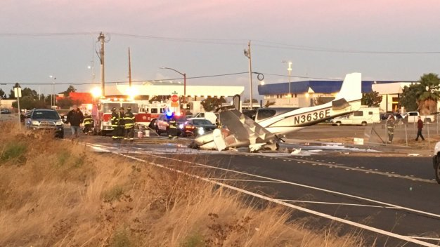 Small Plane Crash at San Carlos Airport