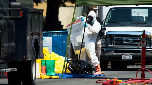 Federal Agents in Hazmat Suits at Scene of Redwood City Raid