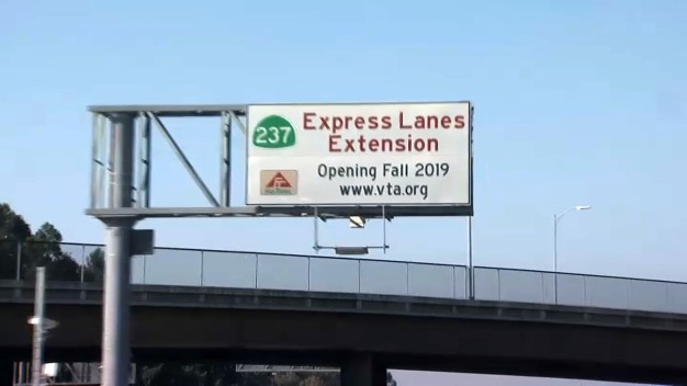 New Stretch of Express Lanes Opens on Highway 237