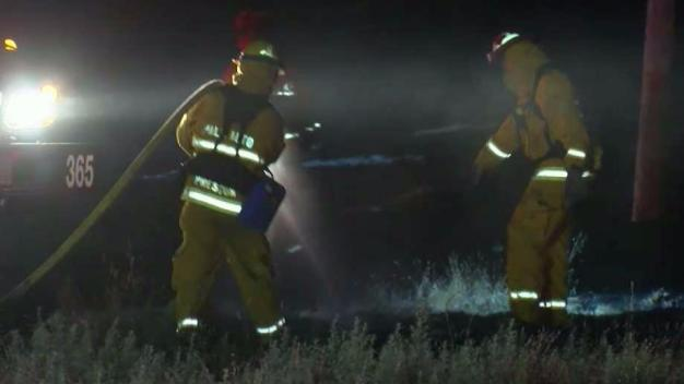 Fire Crews Knock Down Blaze Near Stanford Dish