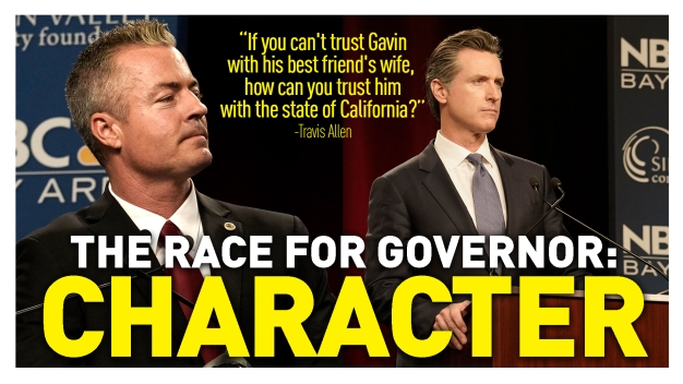 Gavin Newsom and Travis Allen Trade Barbs on Infidelity