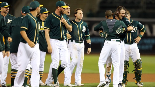 Crisp Comes Through, A's Pitching Dominates