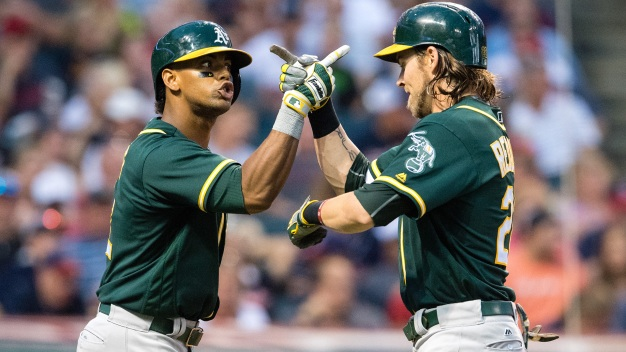 A's Unravel in Seventh, Lose to Indians