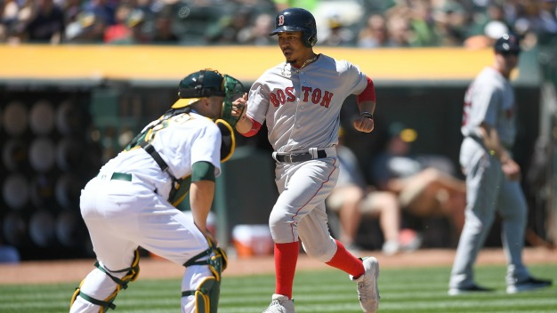 A's No Match For Red Sox Bats