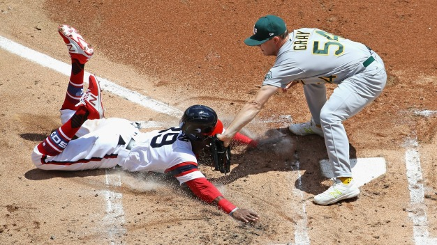 A's Come Alive Late Finish Off Sweep of White Sox