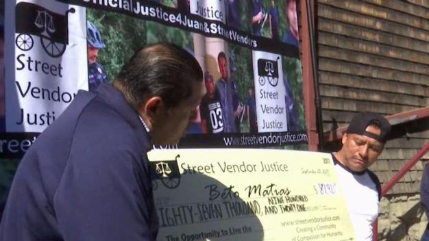 GoFundMe Money Presented to Berkeley Vendor