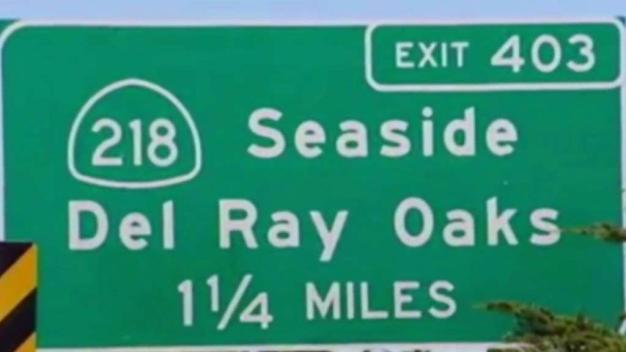 Highway Sign Near Monterey Misspelled
