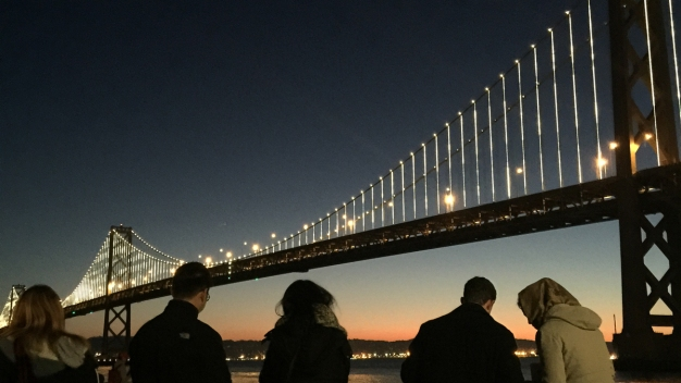 Early Morning Send-Off For Bay Bridge's LED Lights