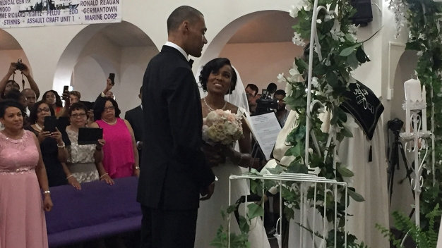 Hurt Olympian Makes Good on Vow to Walk at Wedding