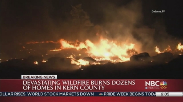 Fast-Moving Wildfire Ravages Dozens of Homes in Calif.