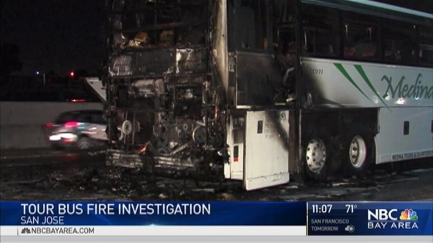 Tour Bus Catches Fire on San Jose Highway, No Injuries: CHP