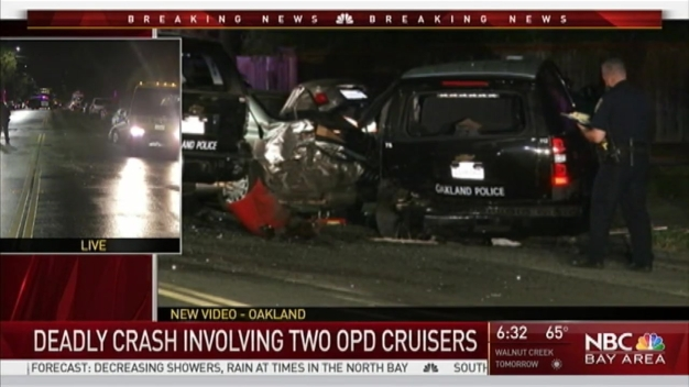 One Dead After Speeding Car Slams Into Vehicles, Oakland Police Cruisers