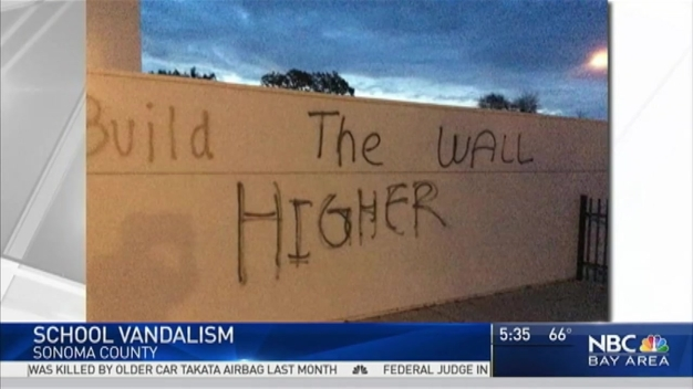 'Build the Wall Higher' Graffiti Found at Spanish Language School in Windsor