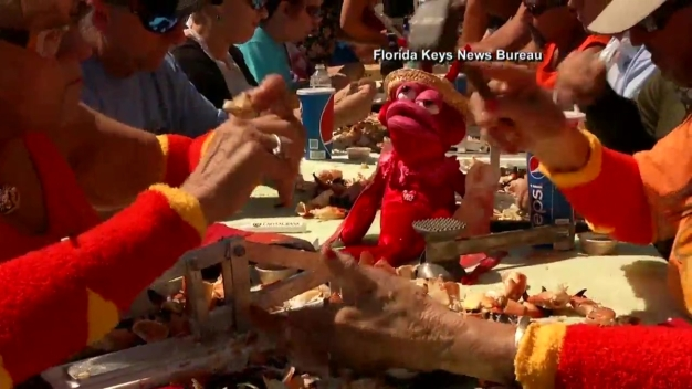 Man's Sets New Record at Stone Crab Eating Contest