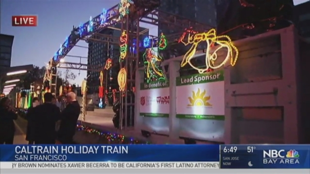 Glittering Caltrain's Holiday Train Generates Delight, Toys for Kids