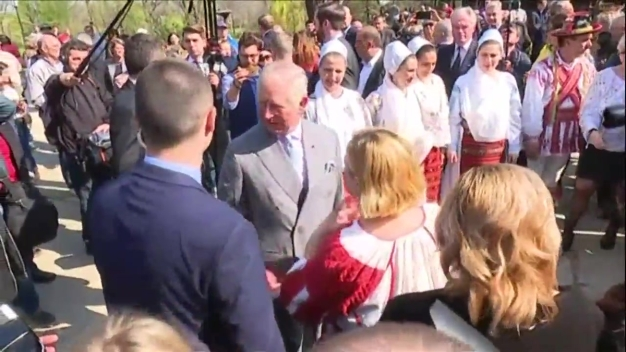 Britain's Prince Charles Took Part in a Traditional Dance