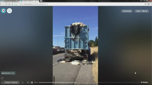 Dough Leaks From Truck in Washington