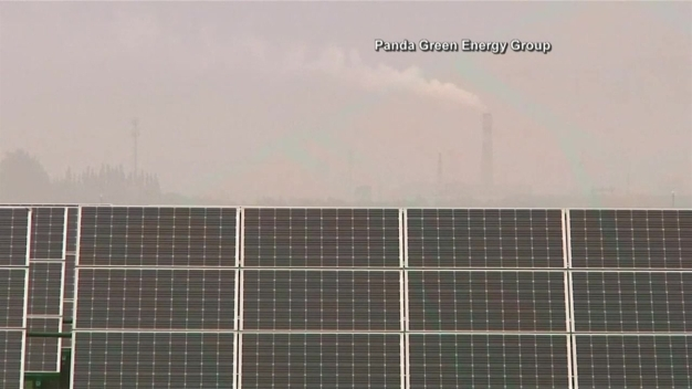 Solar Panels Shaped as Pandas in China