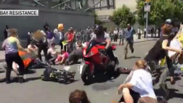 Motorcyclist Allegedly Tries to Run People Down at Federal Health Care Protest in San Francisco