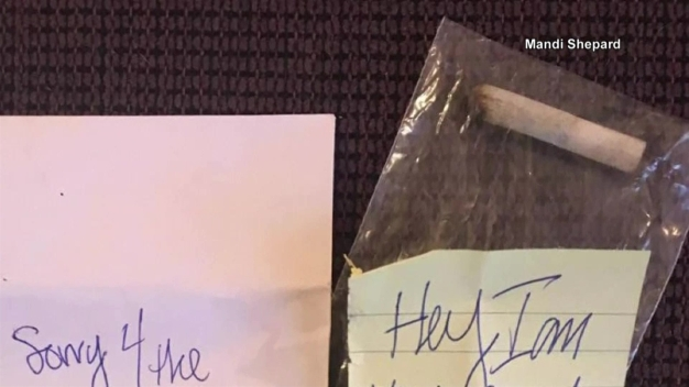 Driver Hits Parked Car, Leaves $40 and Half a Joint for Owner