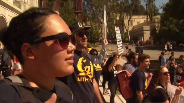 'Rally Against White Supremacy' Takes to Berkeley Streets