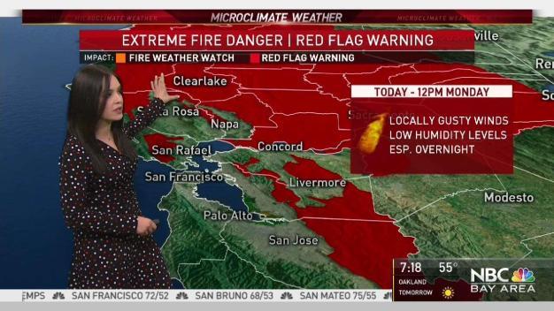 Forecast: Red Flag Warning Through Monday Morning