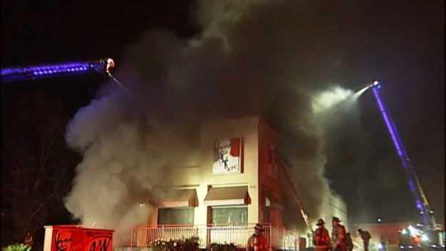 KFC Restaurant a Total Loss After 2-Alarm Blaze in Antioch