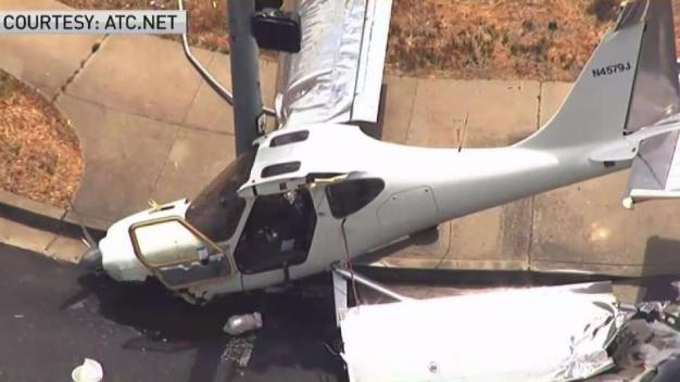 Small Plane Crashes Near Concord Airport