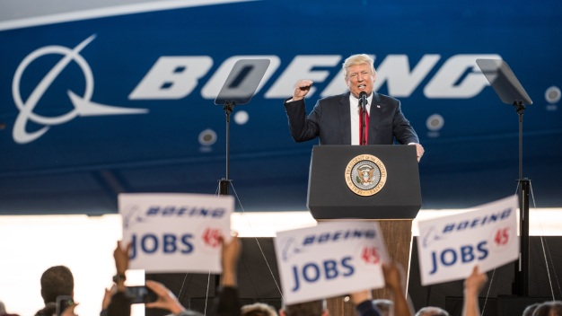 Boeing Factory Where Trump Touted US Jobs Set for Layoffs
