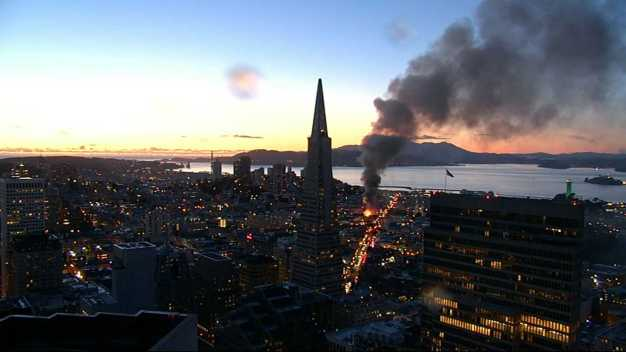 SF Firefighters Battle Four-Alarm Fire