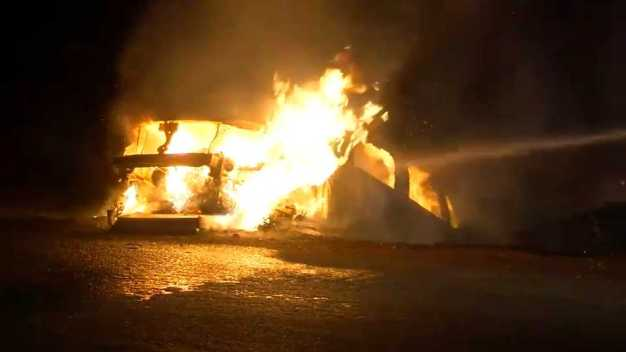 Two Brothers Rescue Man From Car Fire on Bear Creek Road