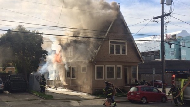 Firefighters Respond to 2-Alarm House Fire in Berkeley